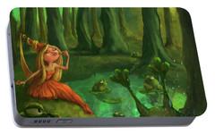 Kissing Frogs Portable Battery Charger by Andy Catling