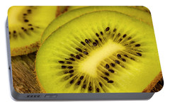 Kiwi Slices Portable Battery Charger by Teri Virbickis