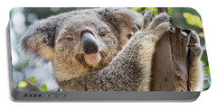 Koala On Tree Portable Battery Charger by Jamie Pham