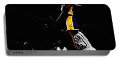 Kobe Bryant On Top Of Dwight Howard Portable Battery Charger by Brian Reaves