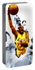 Kobe Bryant Took Flight Portable Battery Charger by Brian Reaves