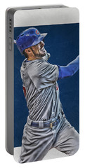 Kris Bryant Chicago Cubs Art 3 Portable Battery Charger by Joe Hamilton