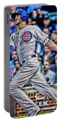 Kris Bryant Chicago Cubs Portable Battery Charger by Joe Hamilton