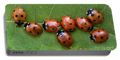 Lady Bugs  Portable Battery Charger by Bob Christopher