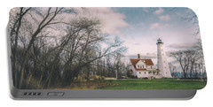 Late Afternoon At The Lighthouse Portable Battery Charger by Scott Norris
