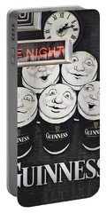 Late Night Guinness Limerick Ireland Portable Battery Charger by Teresa Mucha
