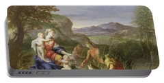Latona And The Frogs Portable Battery Charger by Francesco Trevisani