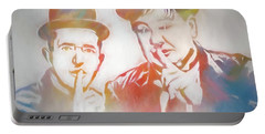 Laurel And Hardy Portable Battery Charger by Dan Sproul