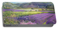 Lavender Fields In Old Provence Portable Battery Charger by Timothy Easton
