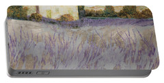 Lavender Portable Battery Charger by Guido Borelli