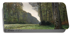 Le Pave De Chailly Portable Battery Charger by Claude Monet
