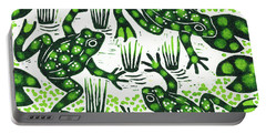 Leaping Frogs Portable Battery Charger by Nat Morley