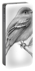 Least Flycatcher Portable Battery Charger by Greg Joens