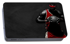 Lebron James Portable Battery Charger by Movie Poster Prints