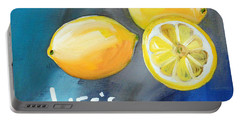 Lemons Portable Battery Charger by Linda Woods