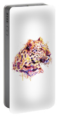 Leopard Head Portable Battery Charger by Marian Voicu