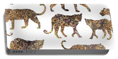 Leopards Portable Battery Charger by Varpu Kronholm