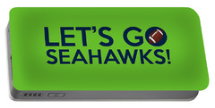 Let's Go Seahawks Portable Battery Charger by Florian Rodarte