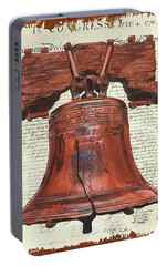 Life And Liberty Portable Battery Charger by Debbie DeWitt