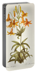 Lilium Penduliflorum Portable Battery Charger by Pierre Joseph Redoute
