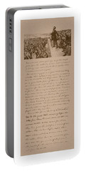 Lincoln And The Gettysburg Address Portable Battery Charger by War Is Hell Store