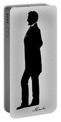 Lincoln Silhouette And Signature Portable Battery Charger by War Is Hell Store