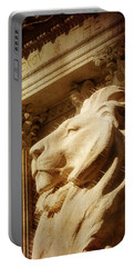 Lion In The Sun Portable Battery Charger by Jon Woodhams