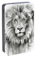 Lion Watercolor  Portable Battery Charger by Olga Shvartsur