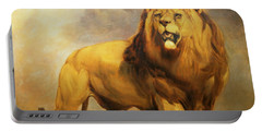 Lion  Portable Battery Charger by William Huggins