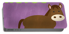 Little Horse Portable Battery Charger by Linda Woods
