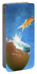Live Your Dreams Portable Battery Charger by Juli Scalzi