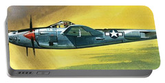 Lockheed P-38j Lightning Portable Battery Charger by Wilf Hardy