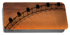 London Eye Sunset Portable Battery Charger by Martin Newman