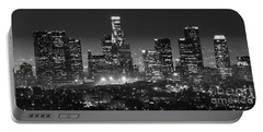 Los Angeles At Night Panorama 3 Portable Battery Charger by Bob Christopher