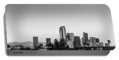 Los Angeles Skyline - B And W Portable Battery Charger by Gene Parks
