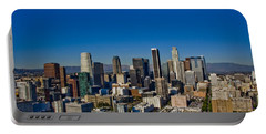 Los Angeles Skyline Portable Battery Charger by Chris Brannen