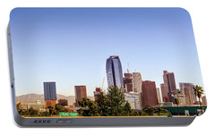 Los Angeles Skyline  Portable Battery Charger by Gene Parks