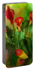 Love Among The Lilies  Portable Battery Charger by Carol Cavalaris