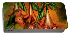 Love Among The Trumpets Portable Battery Charger by Carol Cavalaris