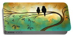 Love Birds By Madart Portable Battery Charger by Megan Duncanson