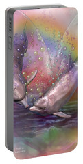 Love Bubbles Portable Battery Charger by Carol Cavalaris