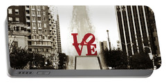 Love In Philadelphia Portable Battery Charger by Bill Cannon