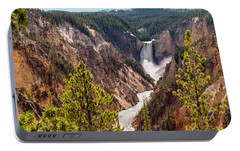 Lower Yellowstone Canyon Falls 5 - Yellowstone National Park Wyoming Portable Battery Charger by Brian Harig