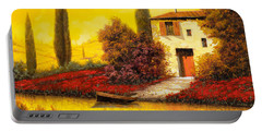 Lungo Il Fiume Tra I Papaveri Portable Battery Charger by Guido Borelli