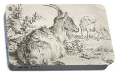 Lying Goat Portable Battery Charger by Adriaen van de Velde