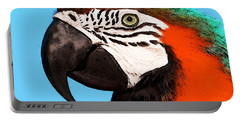 Macaw Bird - Rain Forest Royalty Portable Battery Charger by Sharon Cummings