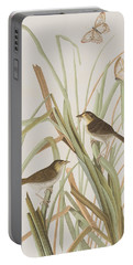 Macgillivray's Finch  Portable Battery Charger by John James Audubon
