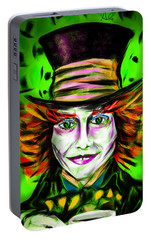 Mad Hatter Portable Battery Charger by Alessandro Della Pietra