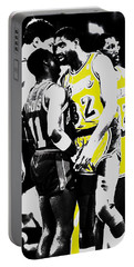 Magic Johnson And Isiah Thomas Portable Battery Charger by Brian Reaves