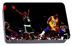 Magic Johnson No Look Pass 7a Portable Battery Charger by Brian Reaves